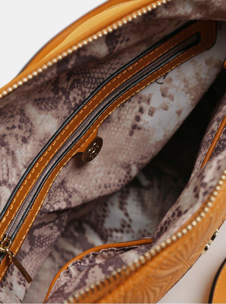 Hnědá kabelka v semišové úpravě Gionni