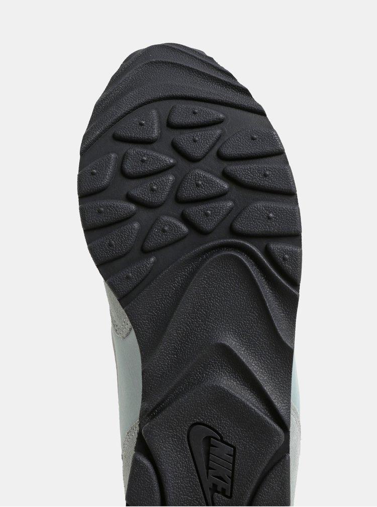 Tenisi de dama mentol cu detalii din piele intoarsa Nike Outburst