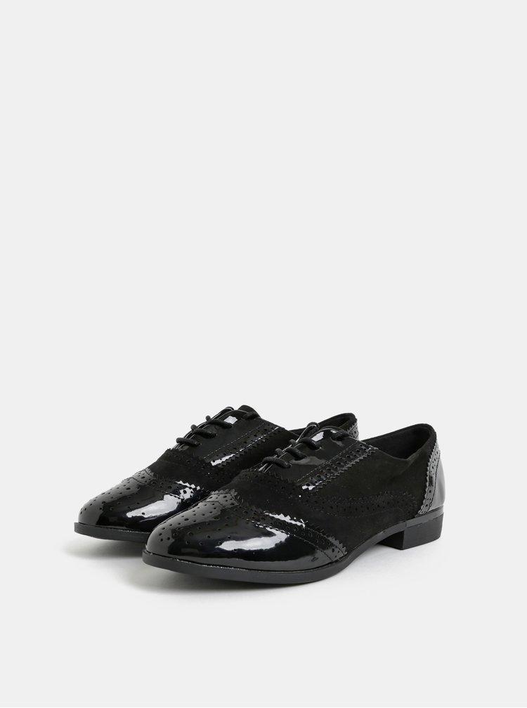 Pantofi negri luciosi Dorothy Perkins Louisa