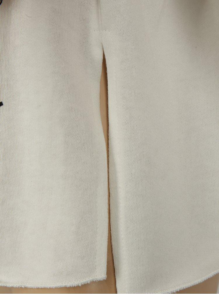 Krémová holčičí krátká mikina s průstřihy na ramenou Blue Seven