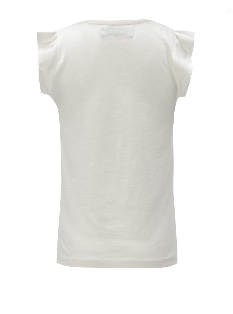 Krémové holčičí tričko s potiskem 5.10.15.