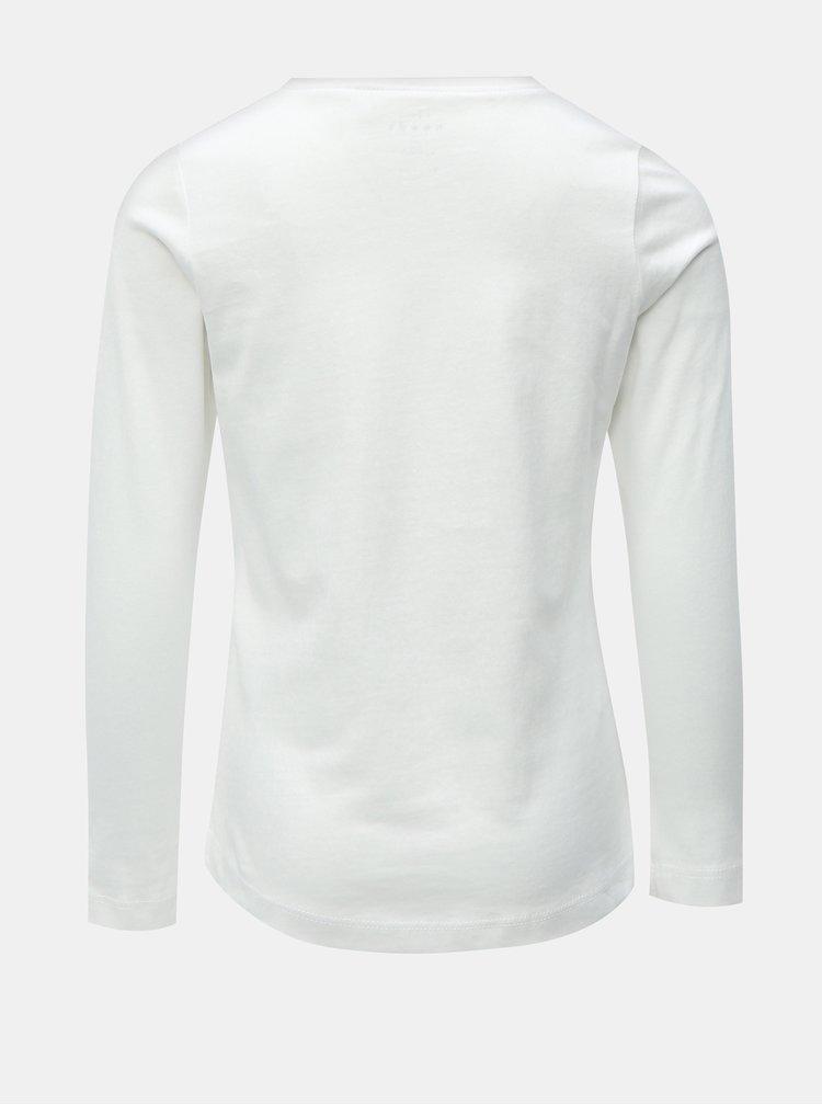 Bílé holčičí tričko s dlouhým rukávem Name it