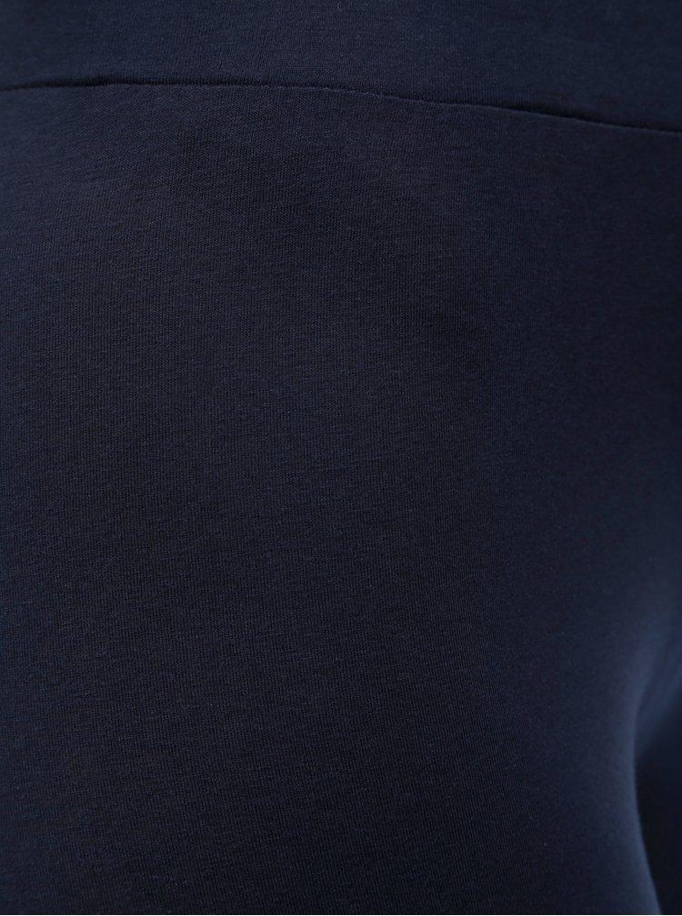Tmavě modré legíny s květovaným potiskem Desigual Sol