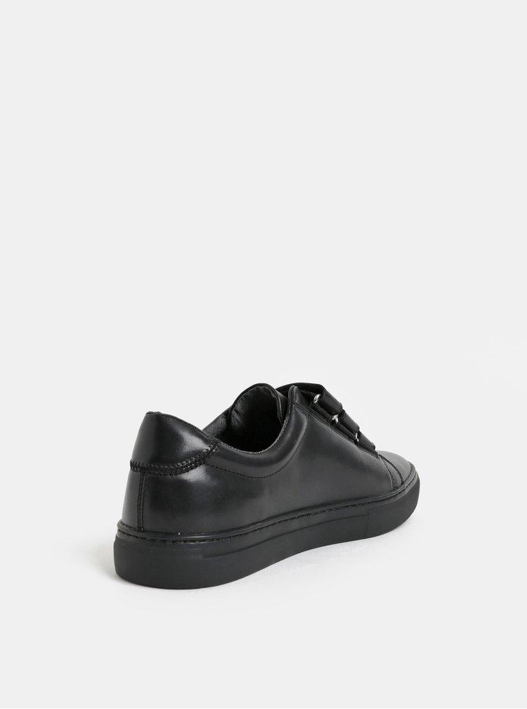 Černé pánské kožené tenisky Vagabond Paul