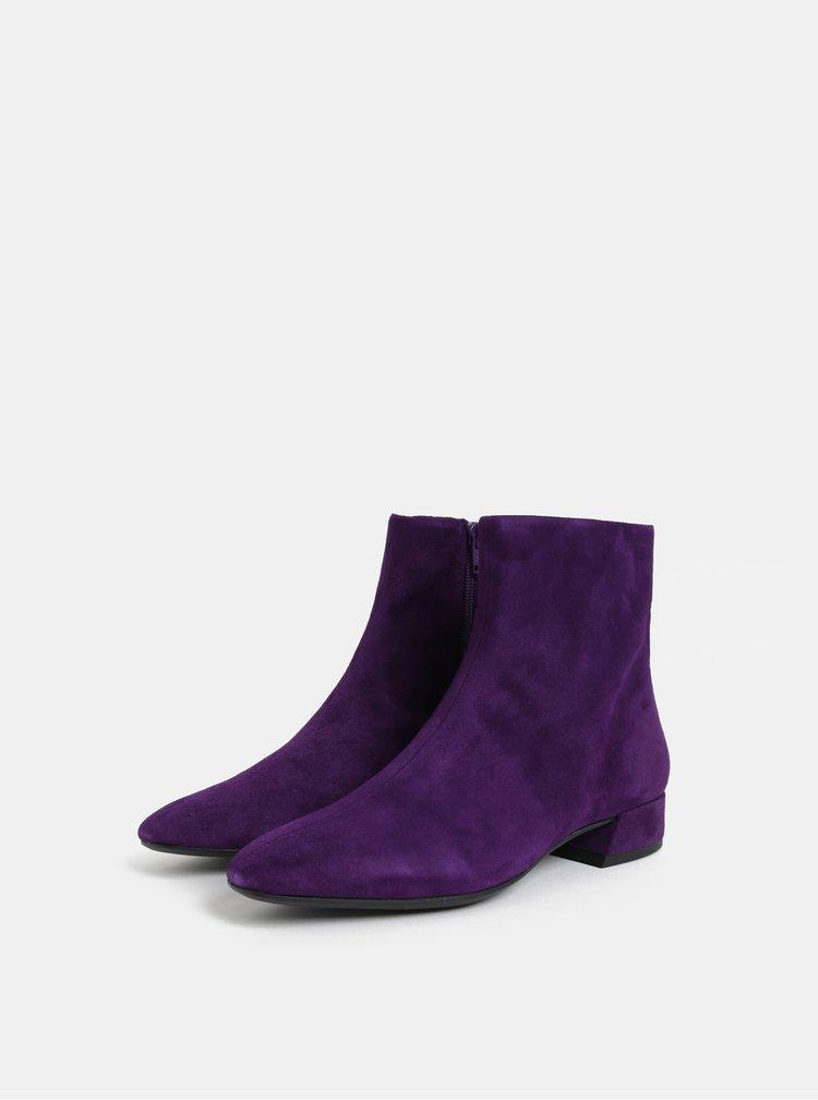 Fialové dámské semišové kotníkové boty Vagabond Joyce