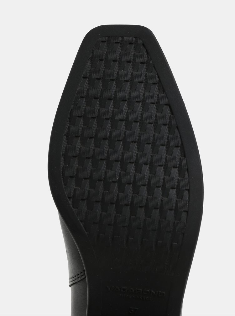 Čierne dámske kožené chelsea topánky Vagabond Simone