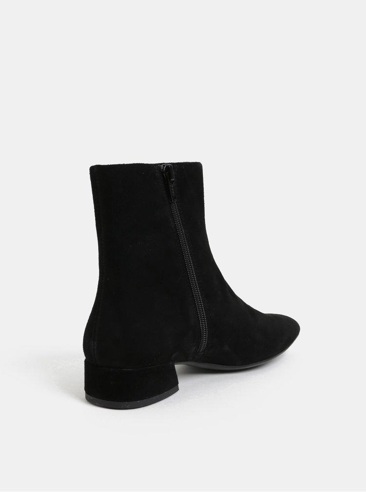Černé dámské semišové kotníkové boty Vagabond Joyce