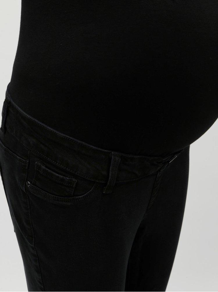 Čierne tehotenské slim rifle Dorothy Perkins Maternity Darcy