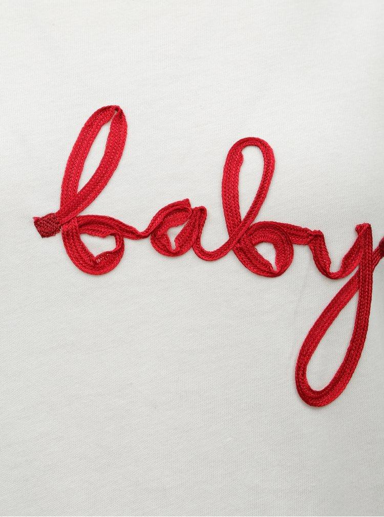 Tricou alb cu petic pentru femei insarcinate Dorothy Perkins Maternity