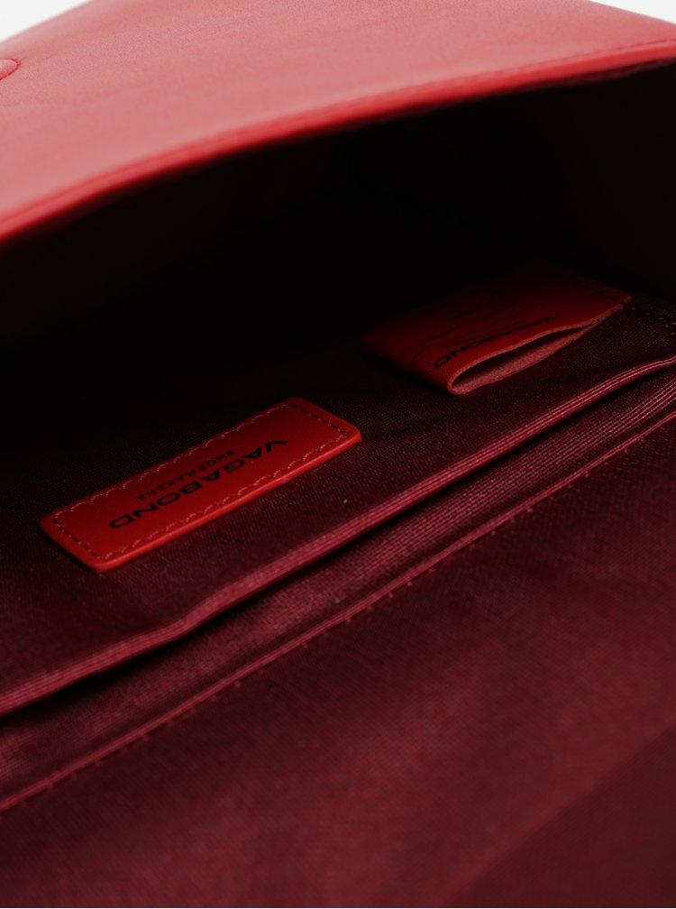 Červená kožená crossbody kabelka Vagabond Waterloo