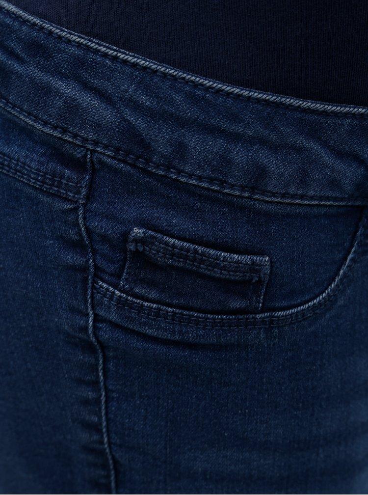 Modré těhotenské skinny džíny Dorothy Perkins Maternity Ashley