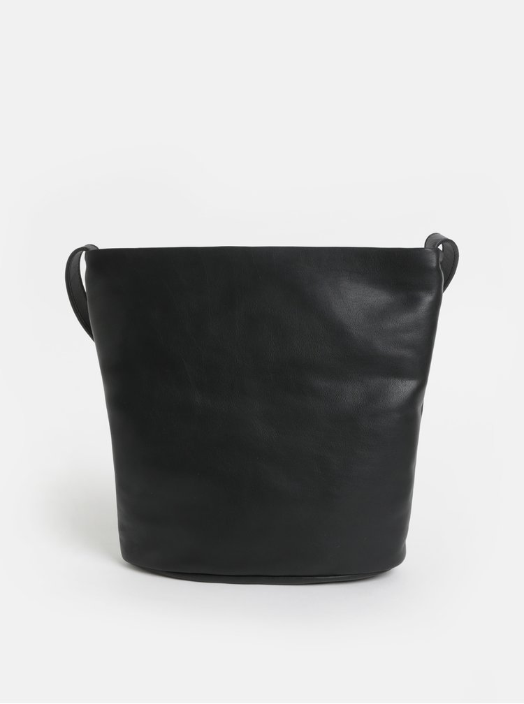 Černá kožená crossbody kabelka Vagabond Madrid