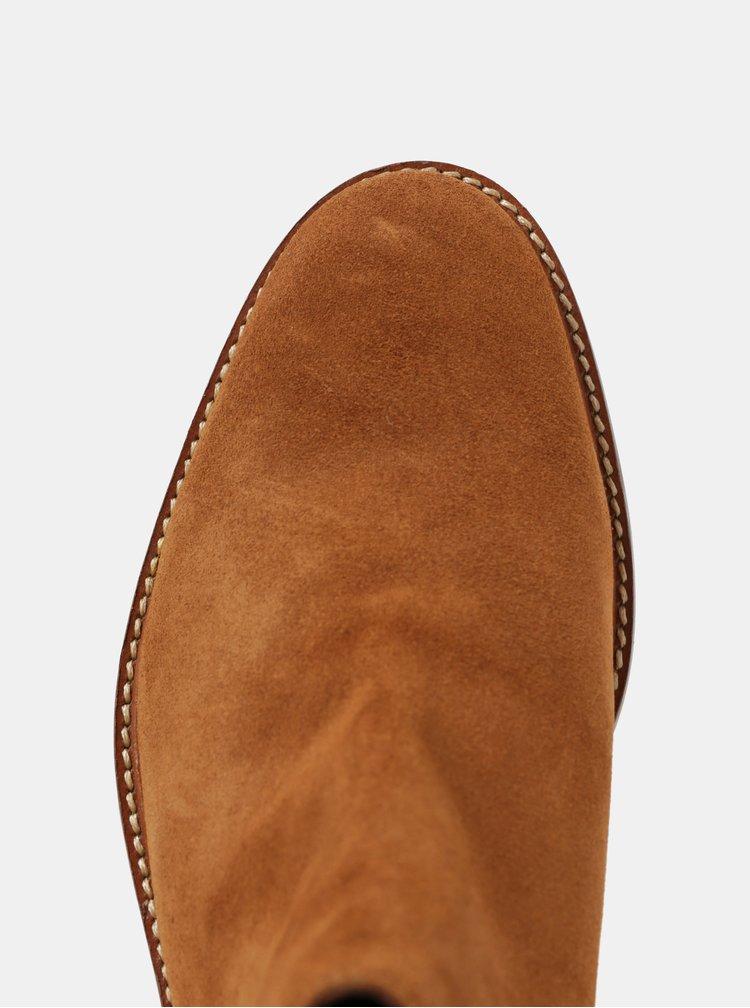 Hnědé pánské semišové chelsea boty London Brogues