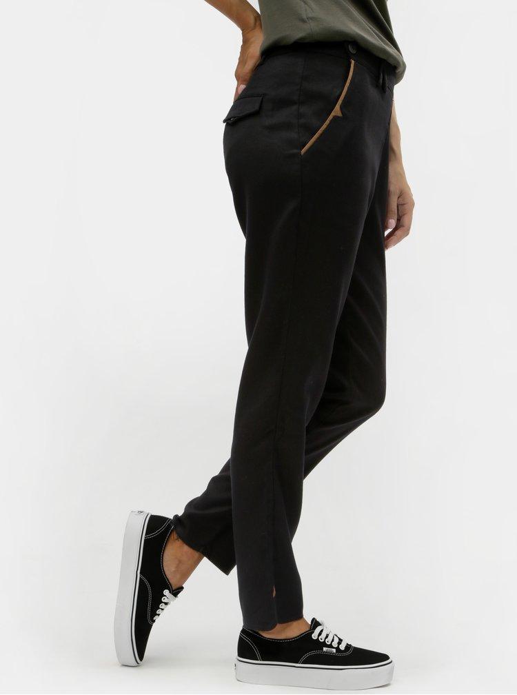 Černé kalhoty s rozparky SKFK