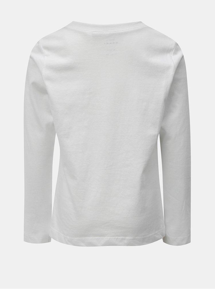 Bílé klučičí tričko s potiskem Name it Vagno