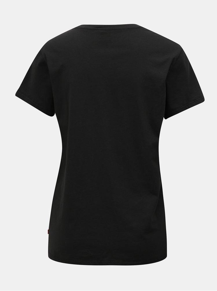 Čierne dámske tričko s potlačou Levi's®