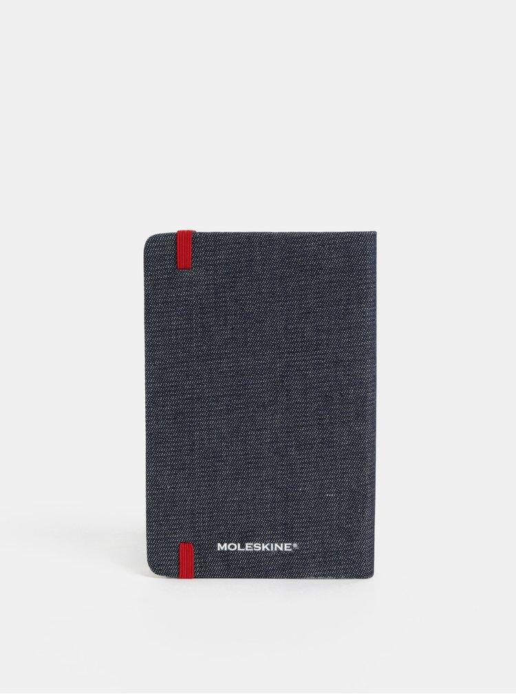 Modrý džínový denní mini diář se samolepkami na rok 2019 Moleskine A6
