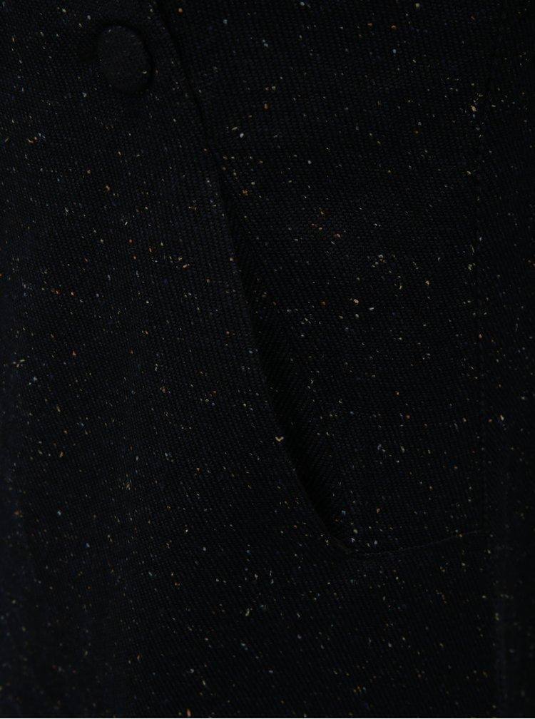 Černé žíhané šaty s kapsami SKFK