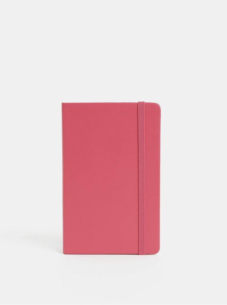 Růžový denní mini diář se samolepkami na rok 2019 Moleskine A6