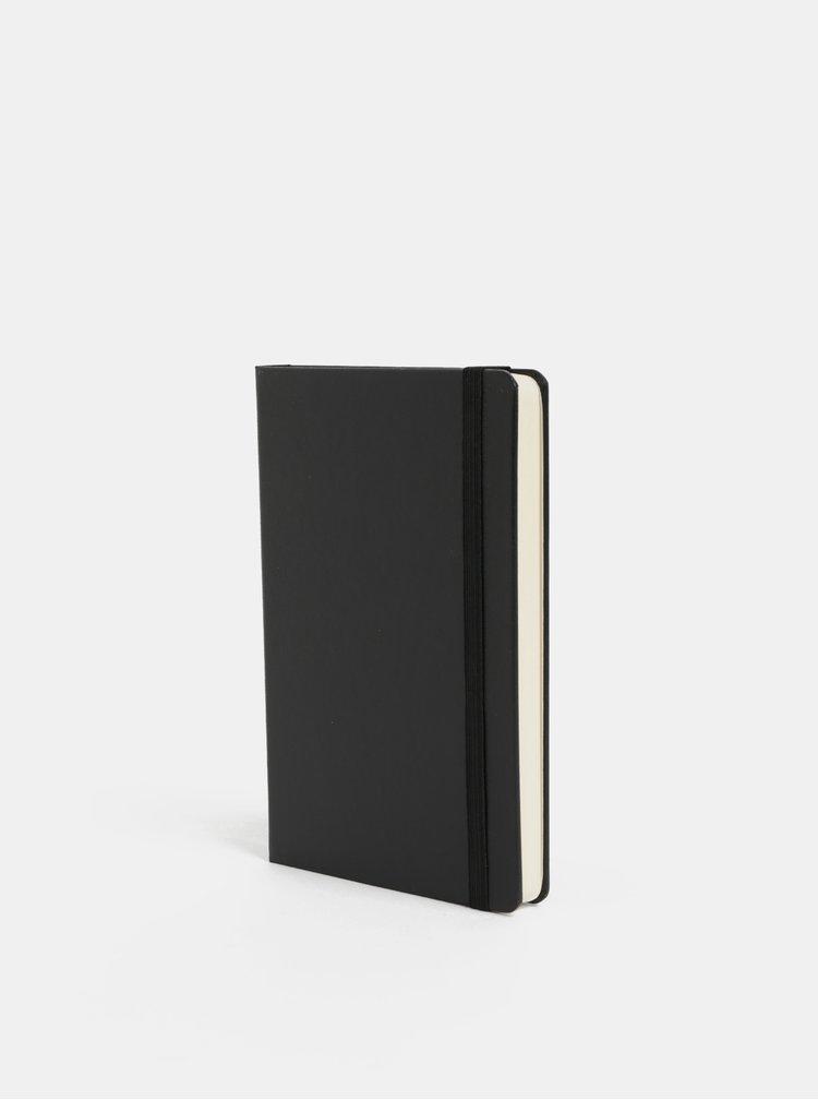 Černý mini zápisník s pevnou vazbou Moleskine A6