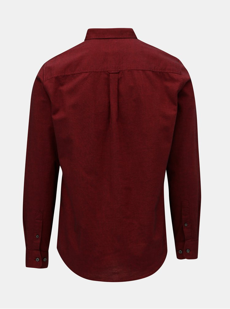 Vínová košile s drobným vzorem Burton Menswear London