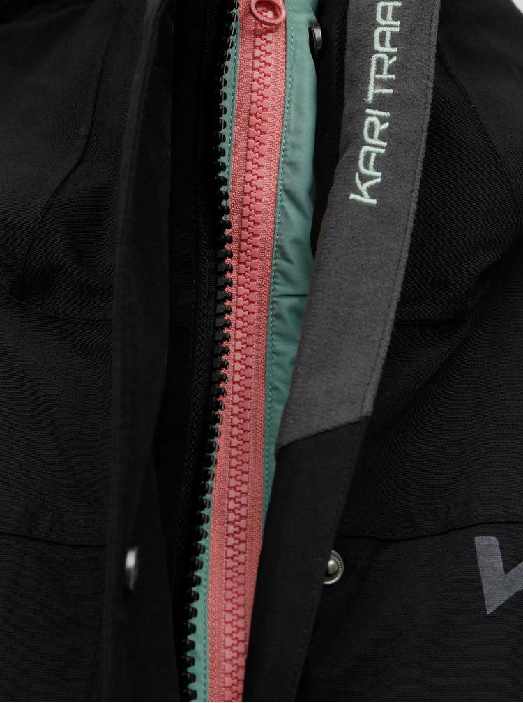 Černý kabát s vnitřním lehkým odepínatelným kabátem 2v1 Kari Traa