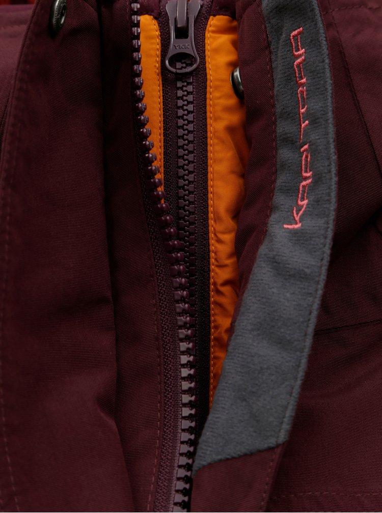 Vínový voděodpudivý kabát s lehkým odepínatelným kabátem 2v1 Kari Traa Dalane