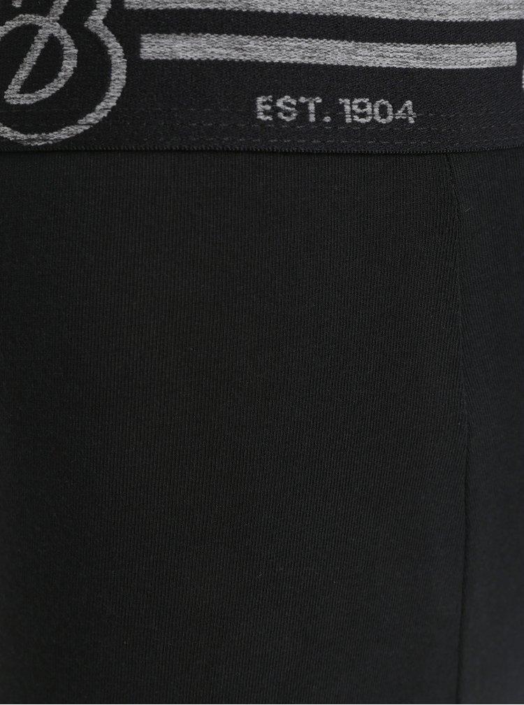 Set de 3 boxeri negri, albi si galbeni cu model Burton Menswear London Rodger