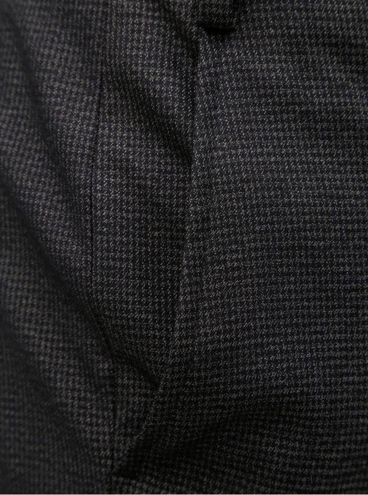Pantaloni formali gri inchis cu model discret Burton Menswear London