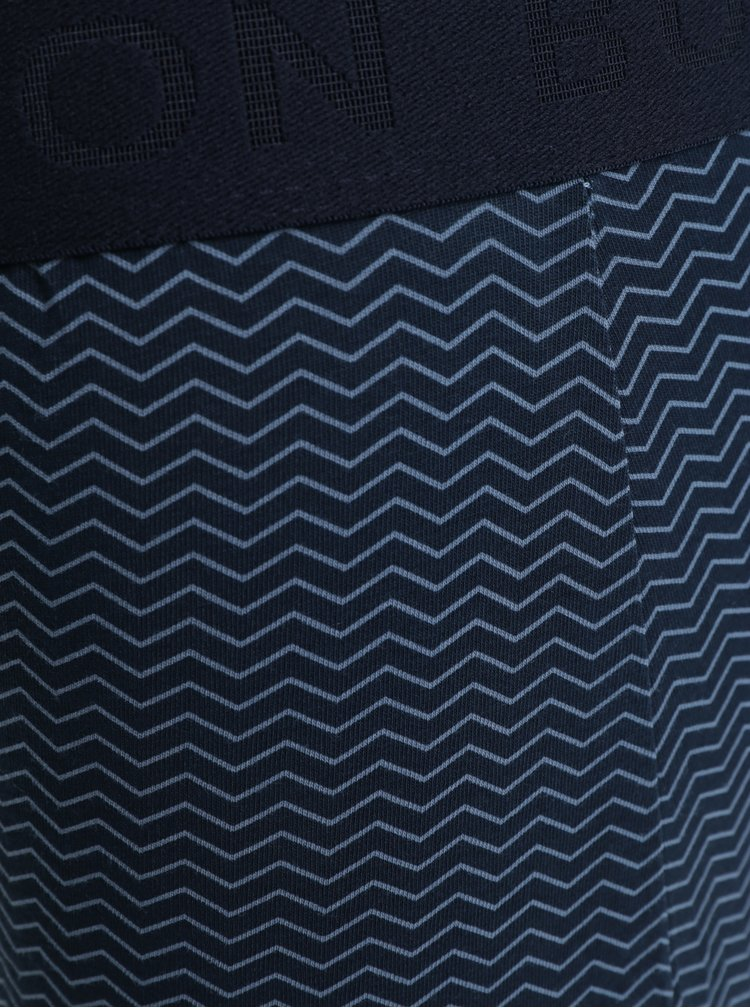 Sada tří vzorovaných boxerek v modré barvě Burton Menswear London