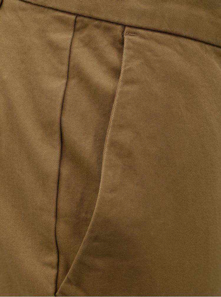 Béžové chino straight nohavice Burton Menswear London