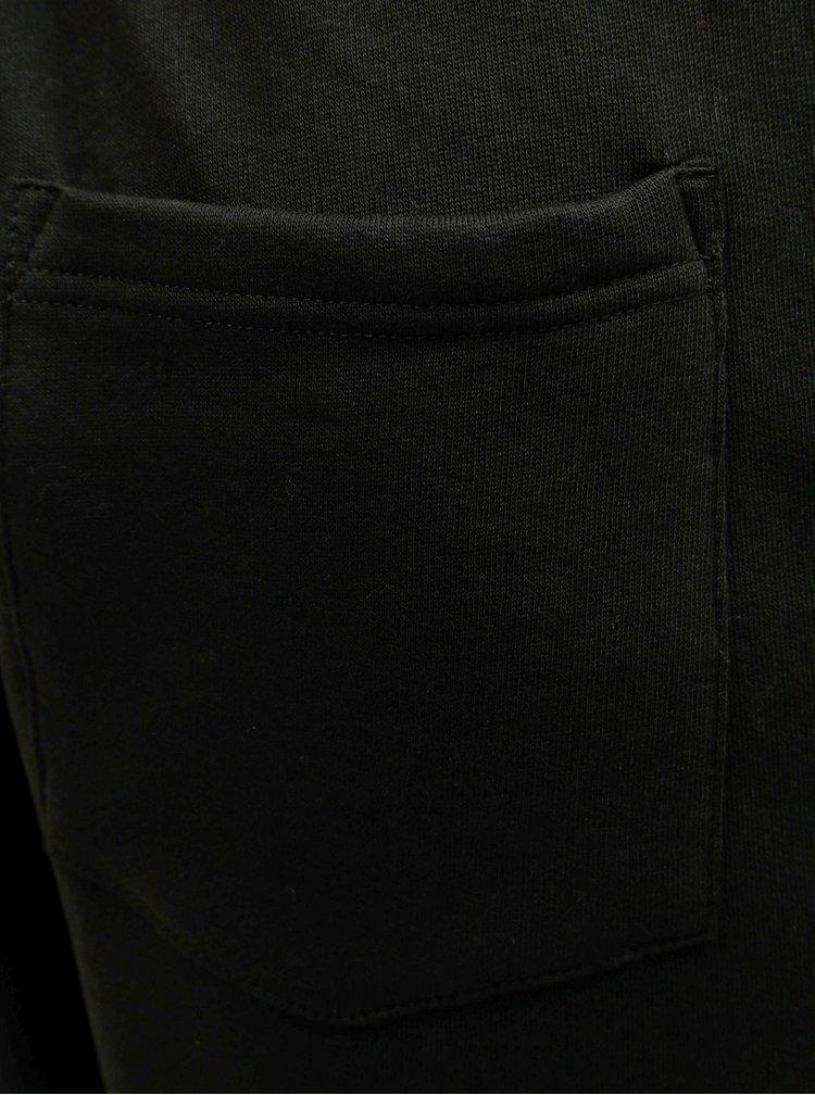 Černé tepláky se stahováním v pase Burton Menswear London