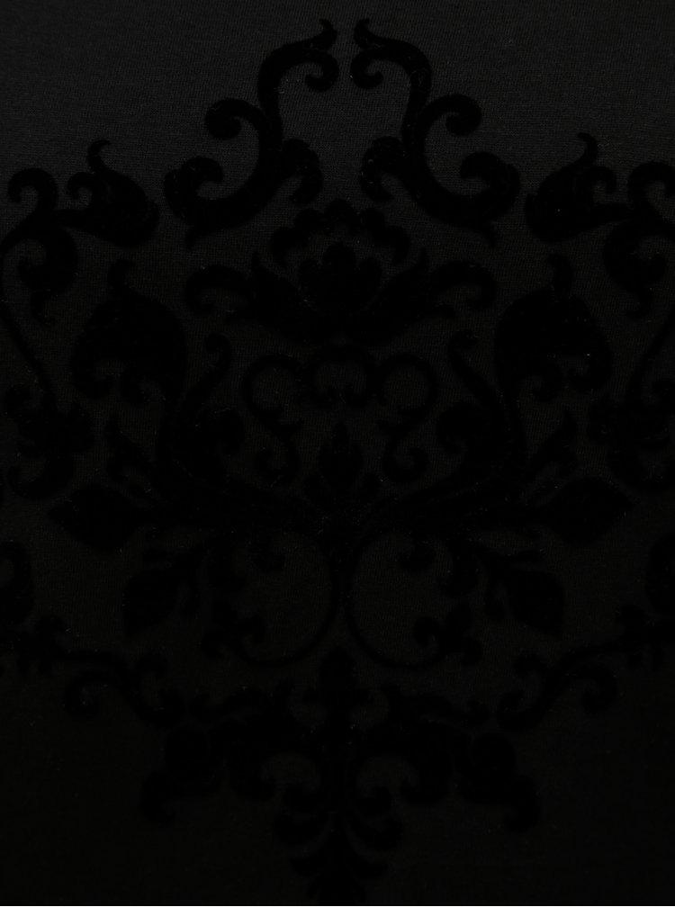 Tricou negru cu imprimeu Jacqueline de Yong Chicago