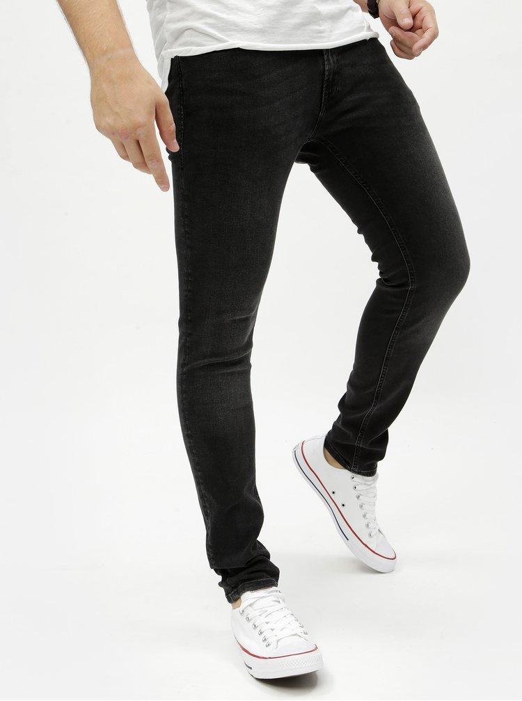Blugi negri skinny fit din denim Jack & Jones Original