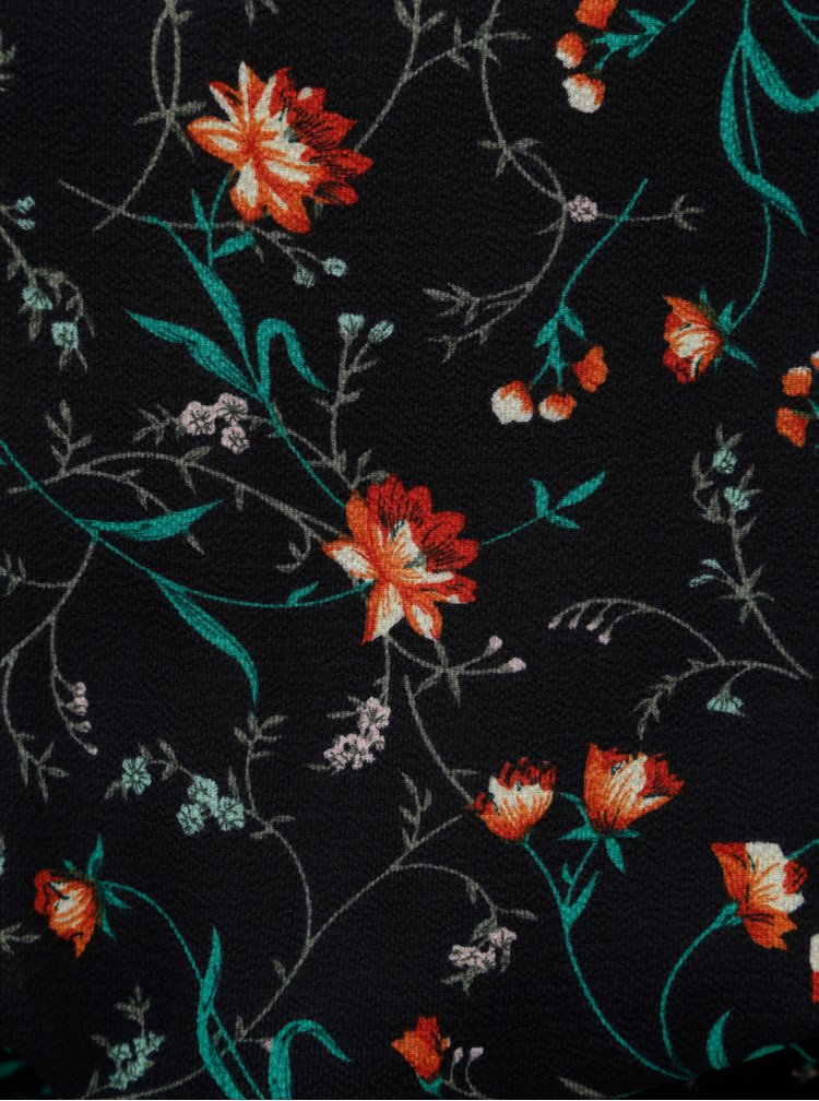 Rochie albastru inchis florala cu snur ONLY Nova Lux