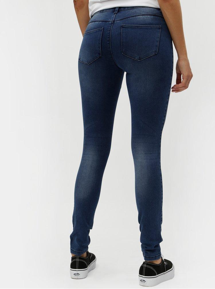 Modré skinny fit džíny ONLY Moka