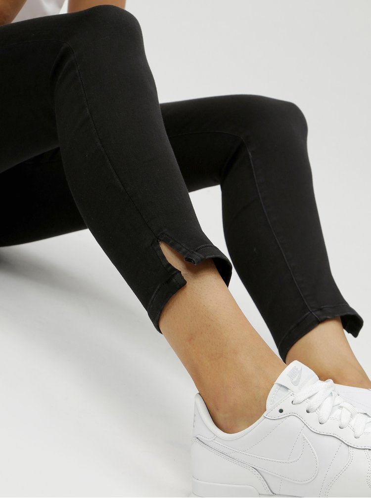 Tmavě šedé zkrácené skinny džíny Jacqueline de Yong Debina
