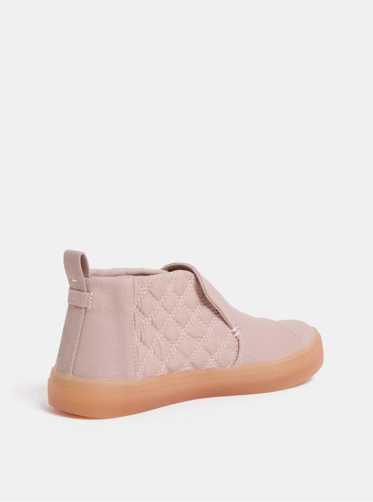 Růžové dámské kotníkové boty TOMS Paxton