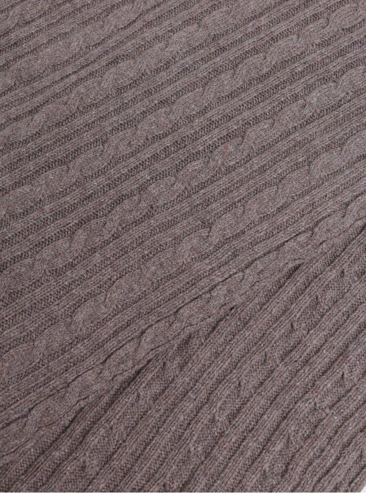 Fular de dama maro impletit cu amestec de lana GANT