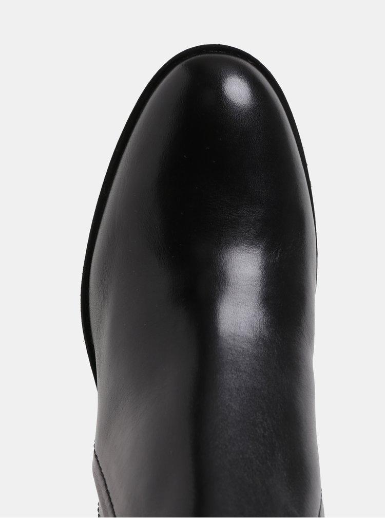 Botine de dama negre din piele Geox Glynna