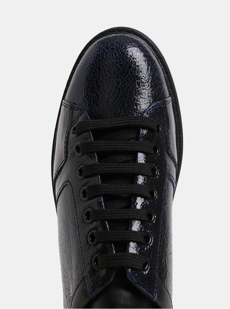 Pantofi sport de dama albastru-negru din piele Geox Thymare