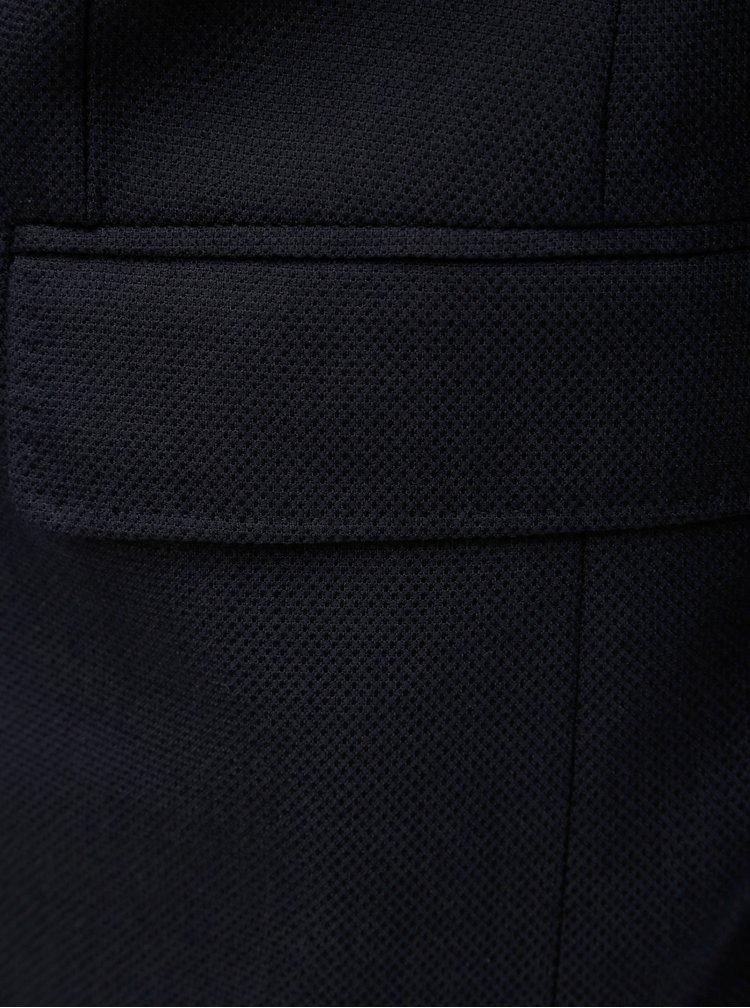 Tmavomodré pánske sako s prímesou vlny GANT Rugger