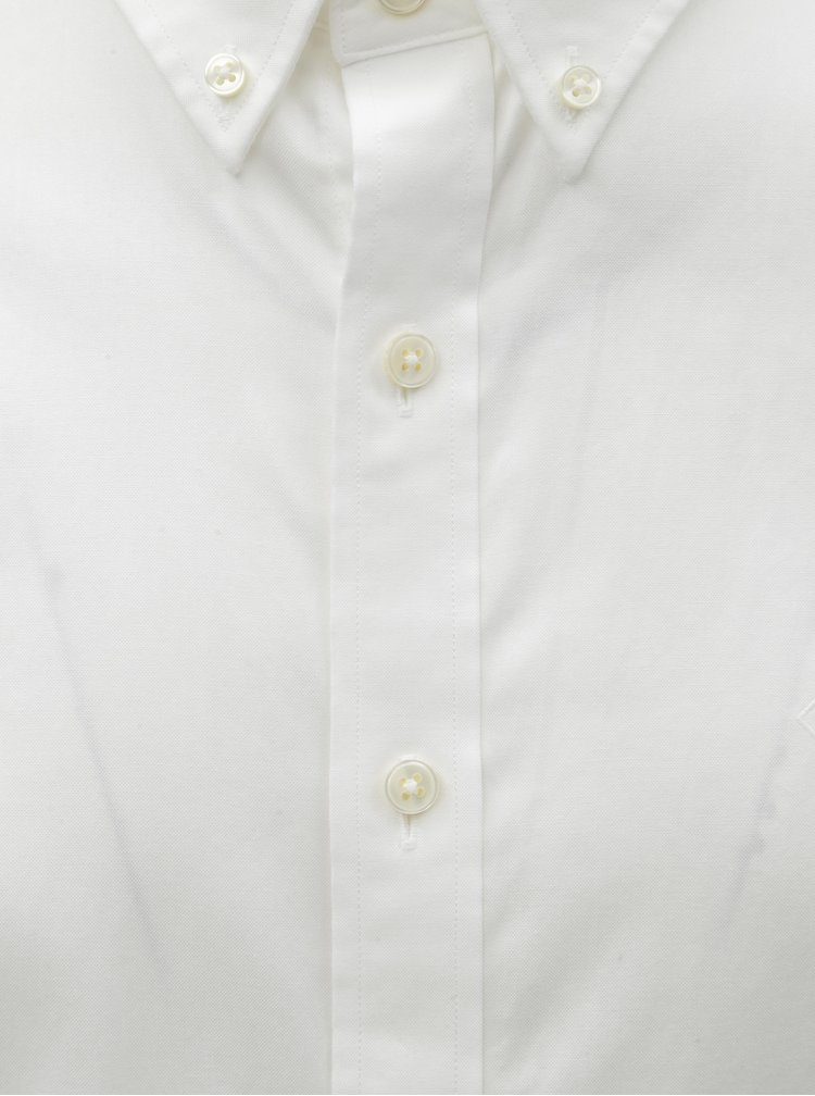 Bílá pánská formální slim fit košile GANT