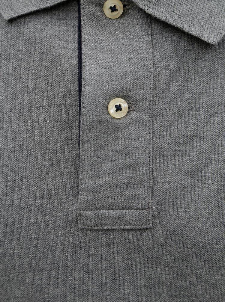 Šedé pánské polo tričko GANT