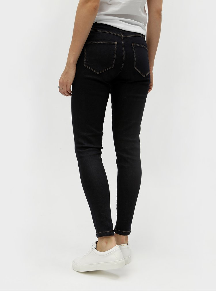 Blugi albastru inchis skinny din denim Dorothy Perkins Petite Ashley