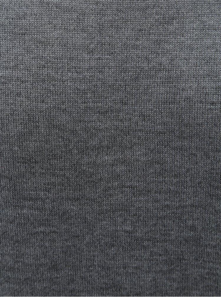 Šedý pánský basic svetr z Merino vlny Makia Merino
