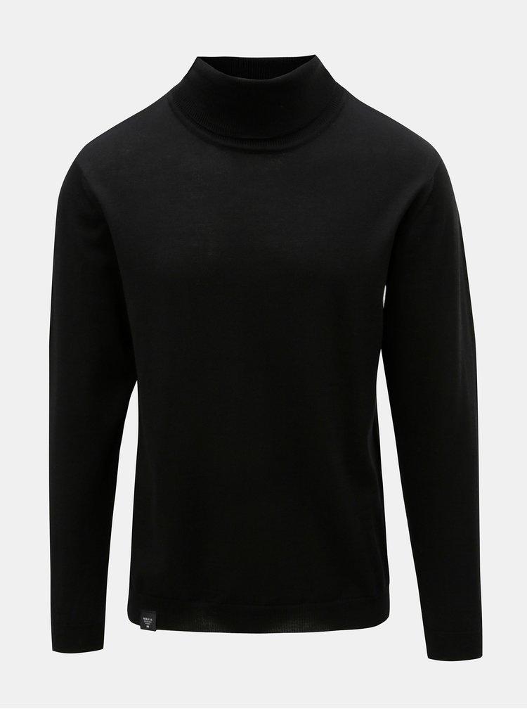 Helanca barbateasca neagra din lana merino Makia
