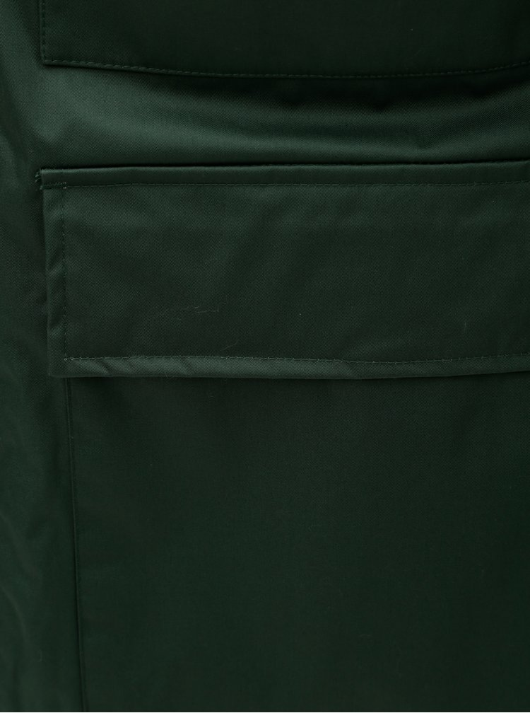Geaca barbateasca verde inchis de iarna impermeabila Makia Field