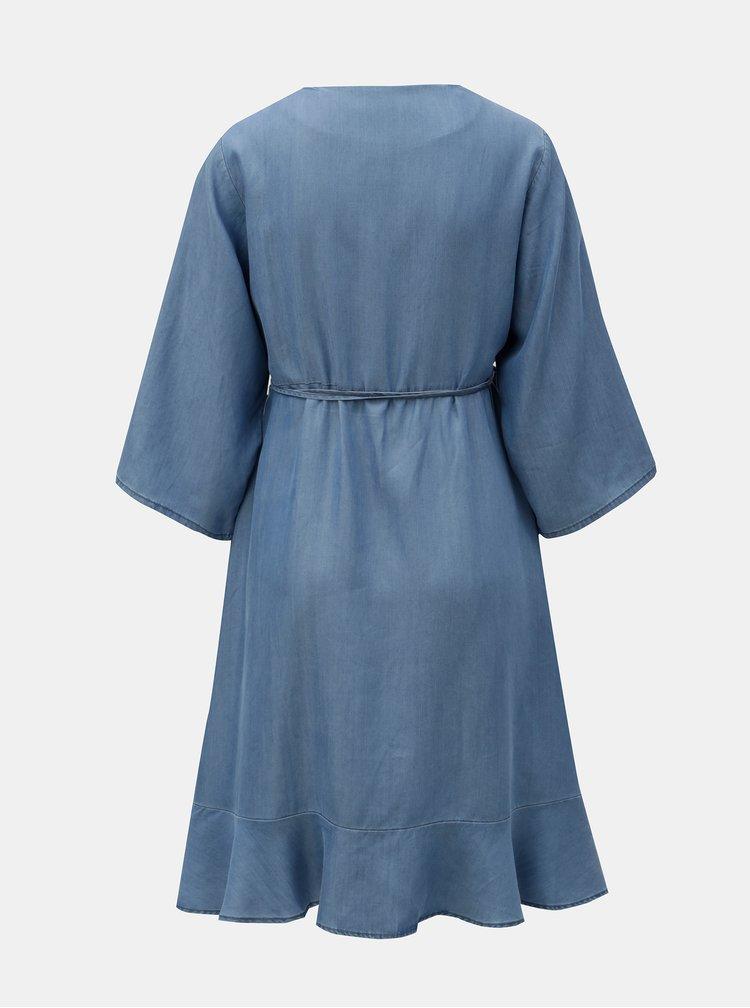Modré tehotenské zavinovacie šaty Mama.licious Isaella