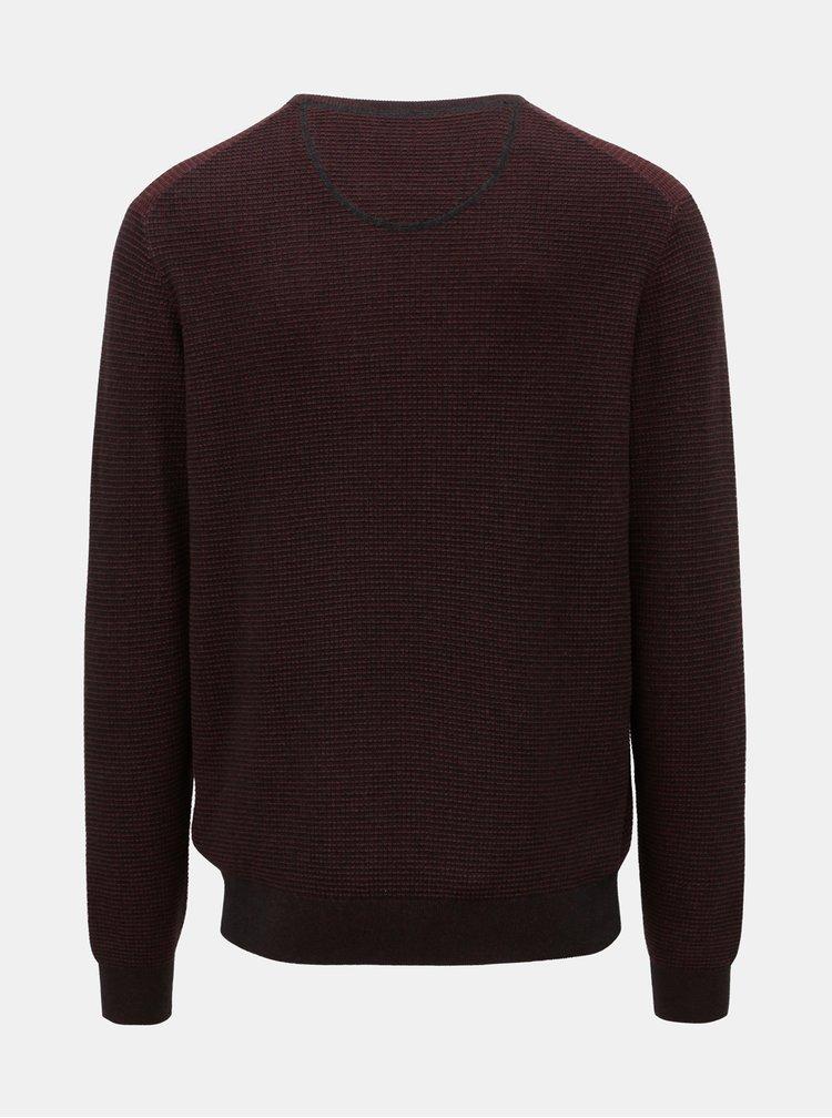 Vínový vzorovaný sveter Fynch-Hatton